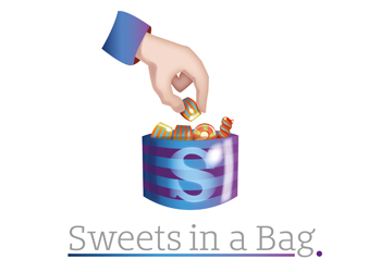 SWEETS IN A BAG LOGO BY THEORY UNIT LOGO & WEBSITE DESIGN IN SHERBORNE & WINCANTON