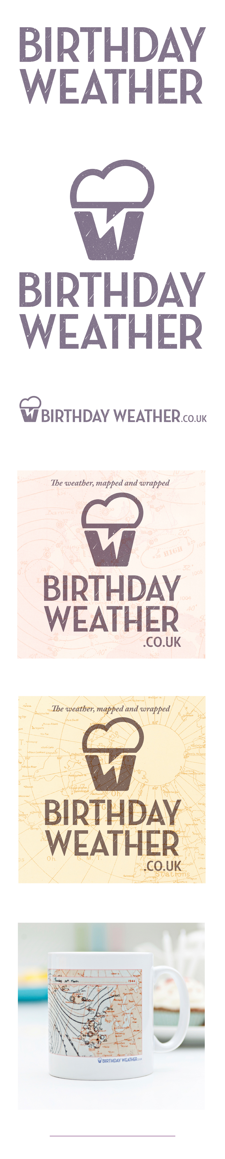 Birthday Weather Brand by Theory Unit Graphic Design and Website Development