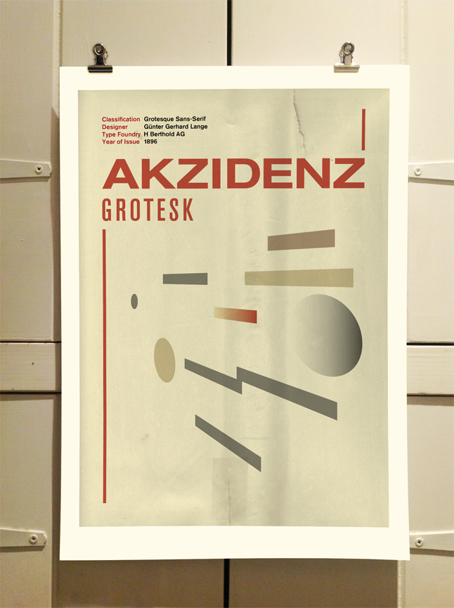 Akzidenz Grotesk Poster by Theory Unit Graphic Design
