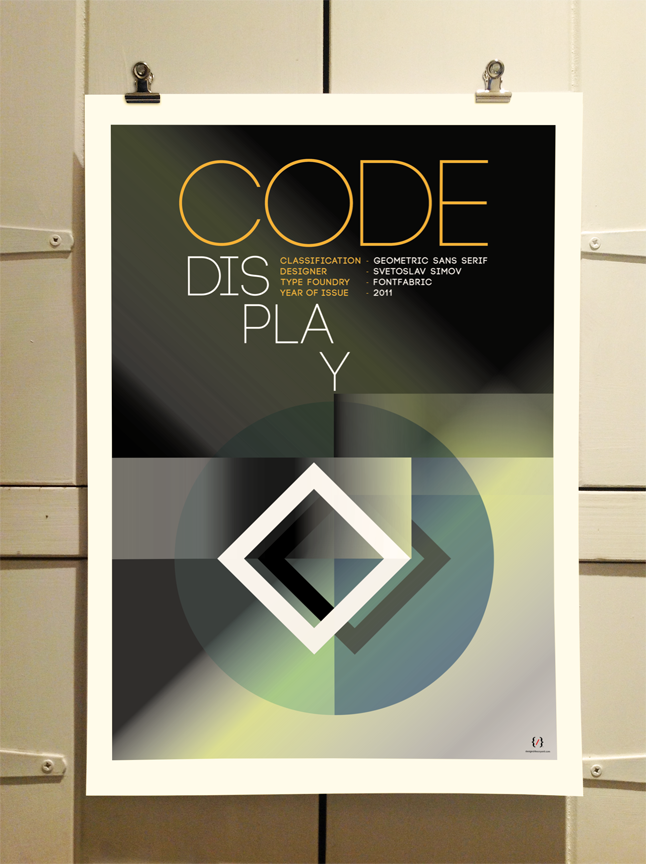 Code Typography Poster by Theory Unit Graphic Design