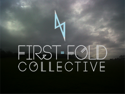 First Fold Collective Logo Over Landscape by Theory Unit Graphic Design