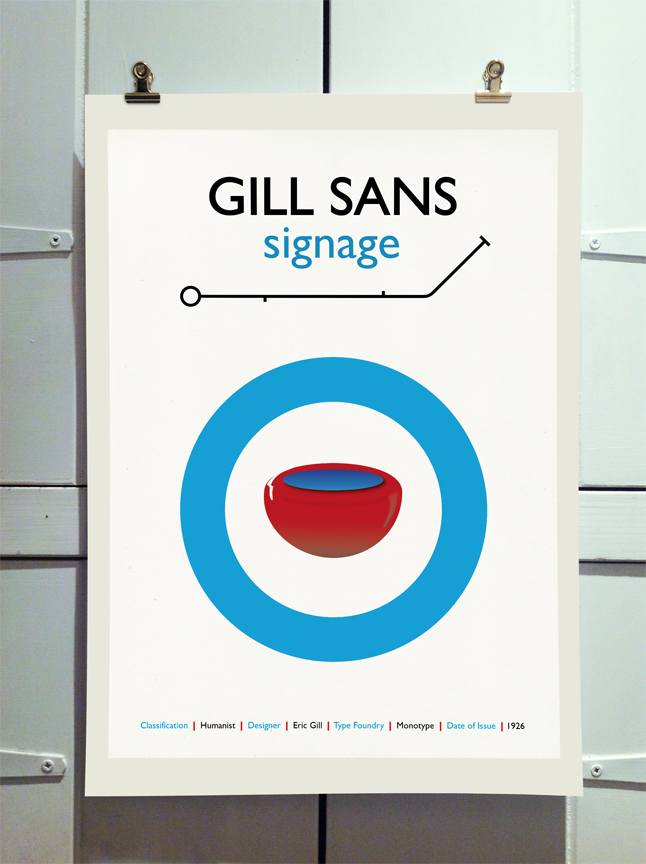 Gill Sans Poster by Theory Unit Graphic Design
