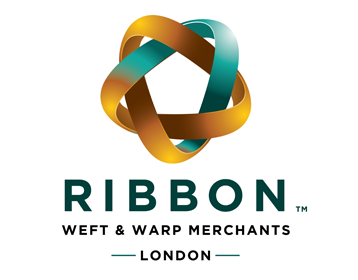 Ribbon Weft & Warp Merchants Logo by Theory Unit Graphic Design in Sherborne, Dorset near Wincanton