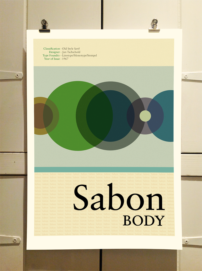 Sabon Poster by Theory Unit Graphic Design